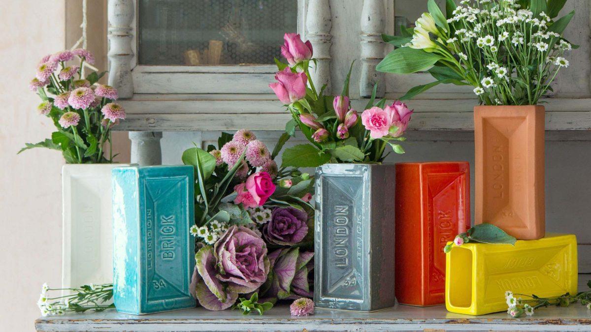 housewarming gift ideas - colourful vases