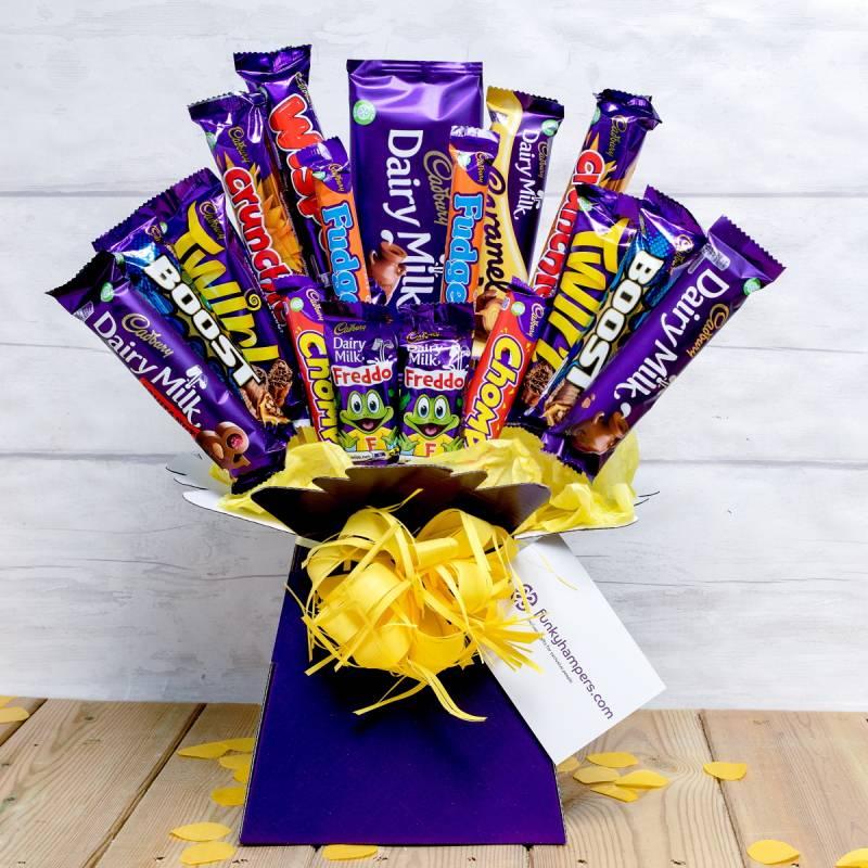 Cadbury's bouquet gift hamper