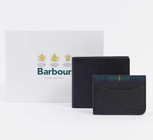 Card holder and wallet set by Barbour