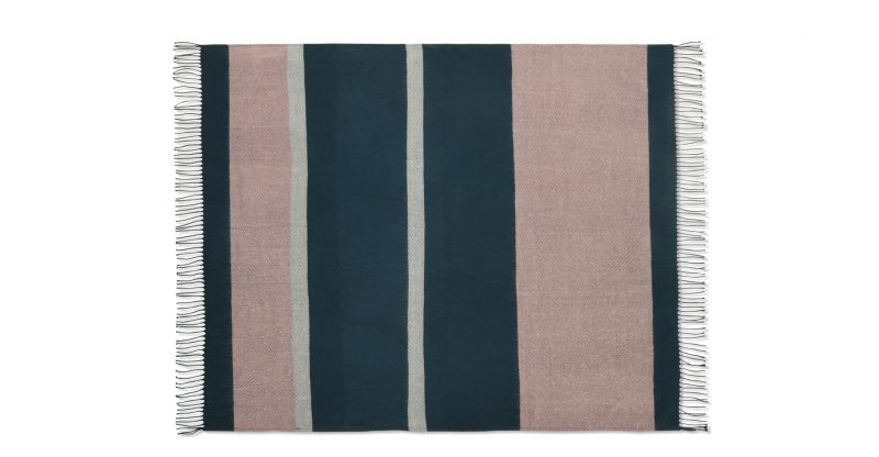 Auburn Throw in Teal and Pink