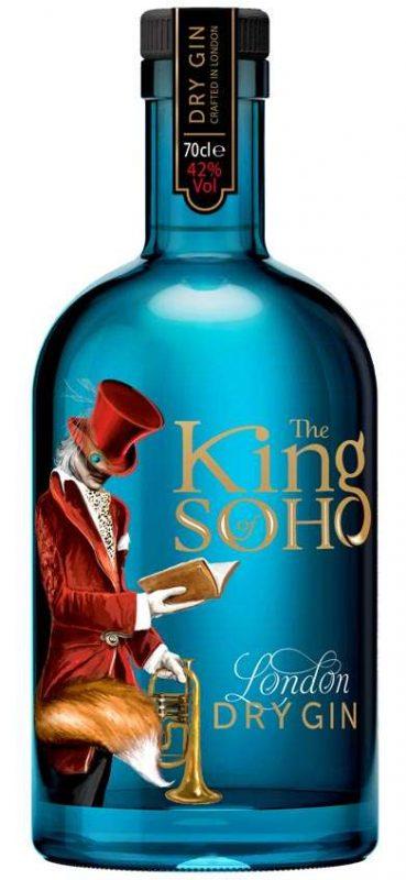 London Gin King of Soho Blue bottle