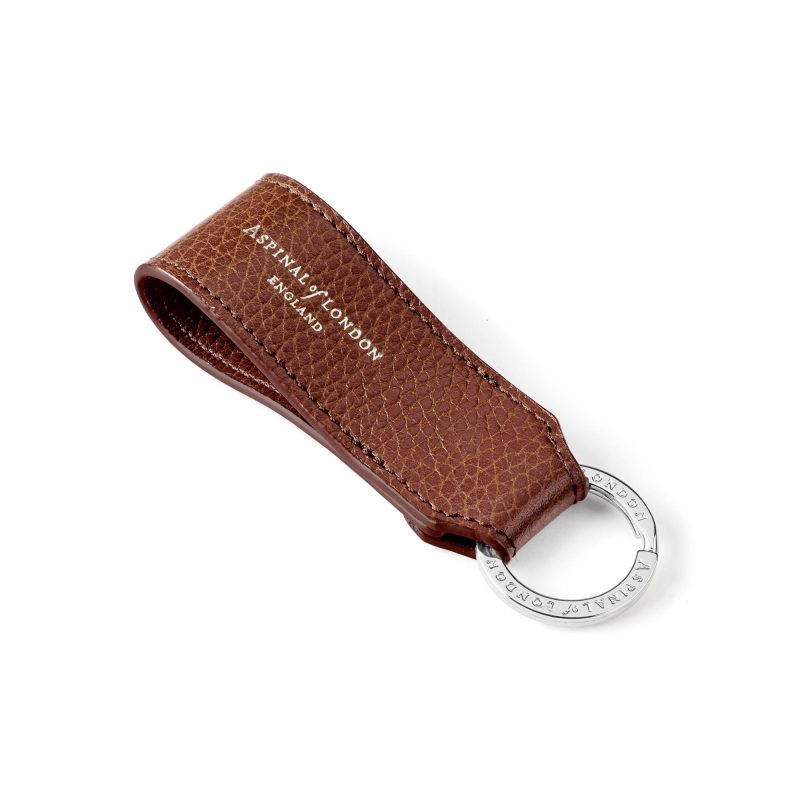 Leather keyring aspinal of london