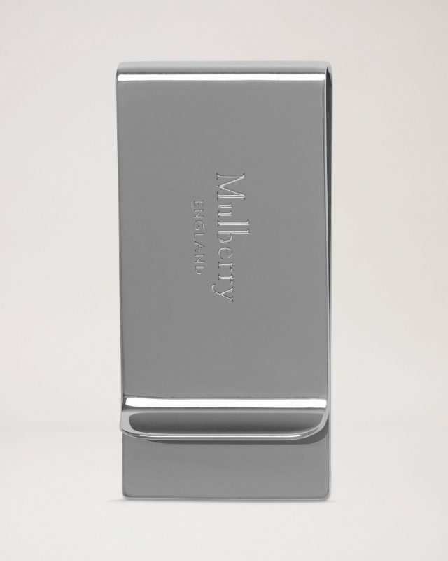 Mulberry money clip in silver