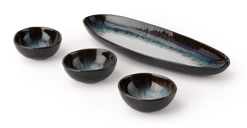 Niva Serving Platter & Dip Dishes