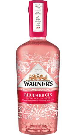 Bottle of Rhubarb flavour British gin