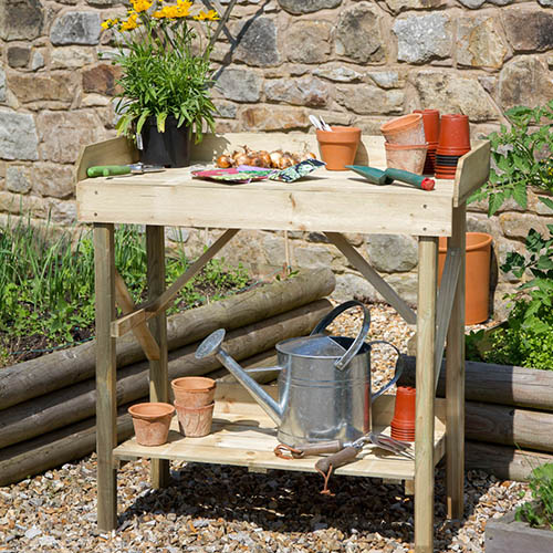 Potting table for shed or allotment