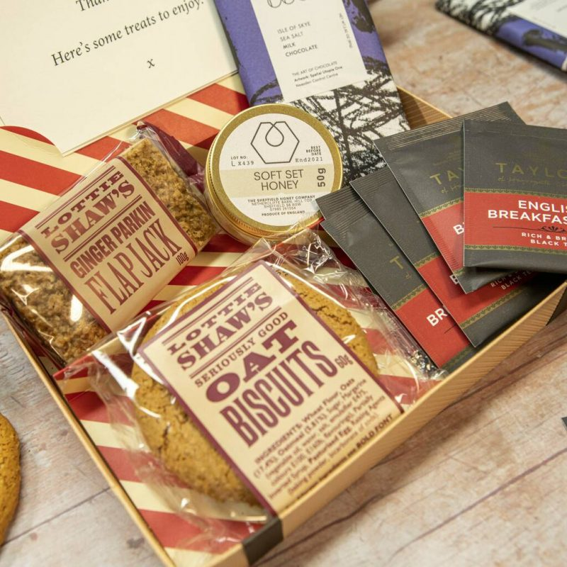 Gift hamper with northern themed food