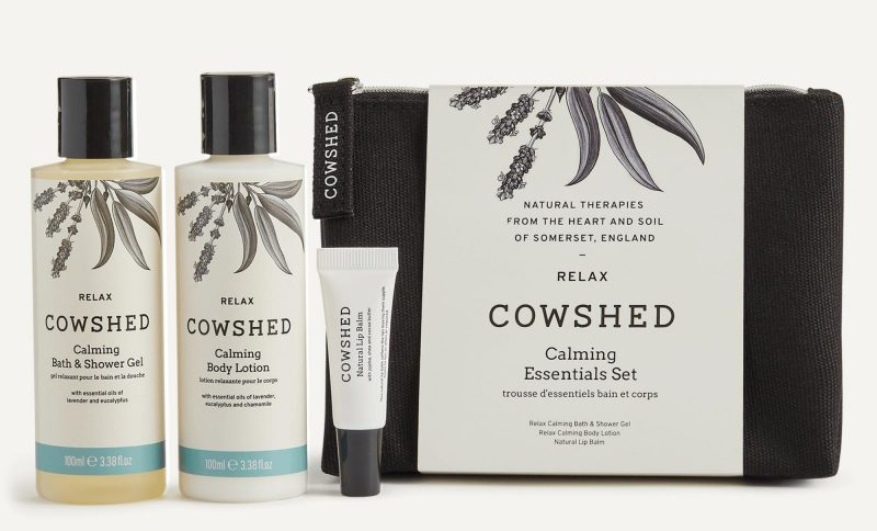 calming essentials gift set from cowshed
