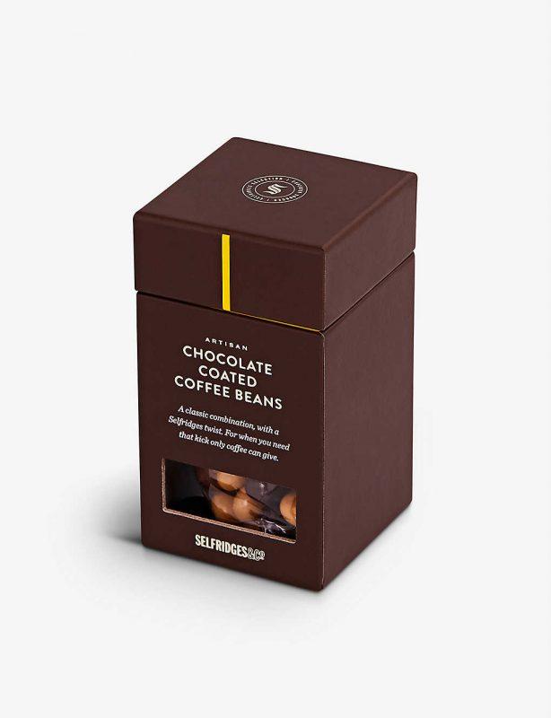 Chocolate coated coffee beans gift
