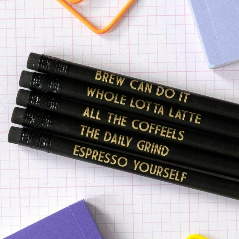 Coffee themed pencils gifts for coffee lovers