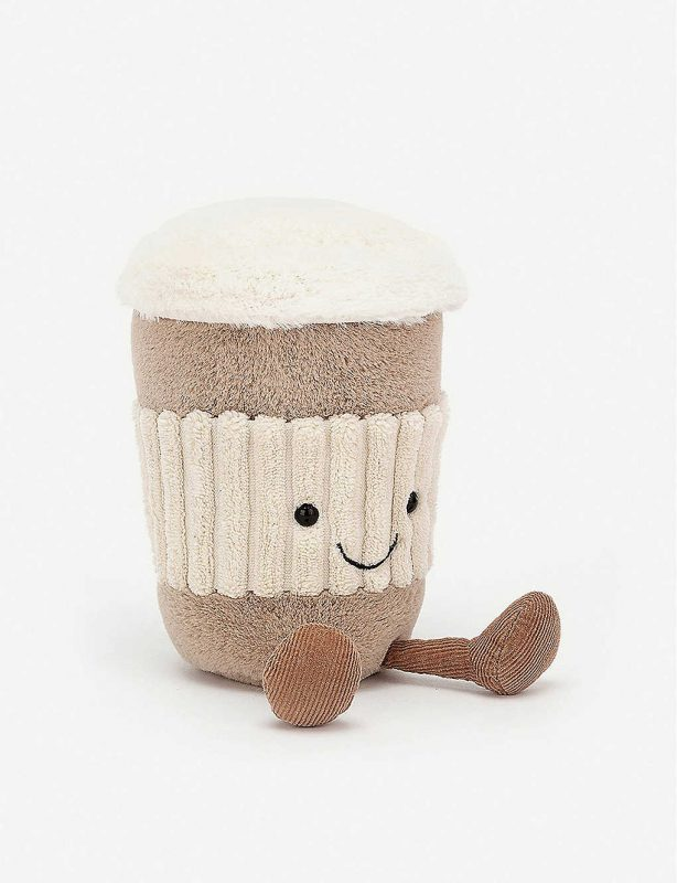 Jelly cat coffee soft toy