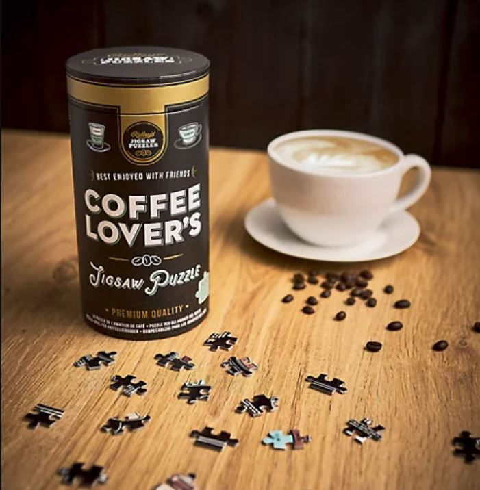 Coffee themed jigsaw puzzle gift