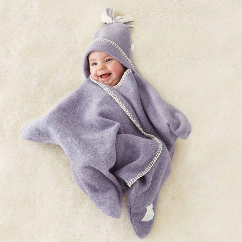 fleece baby star wrap