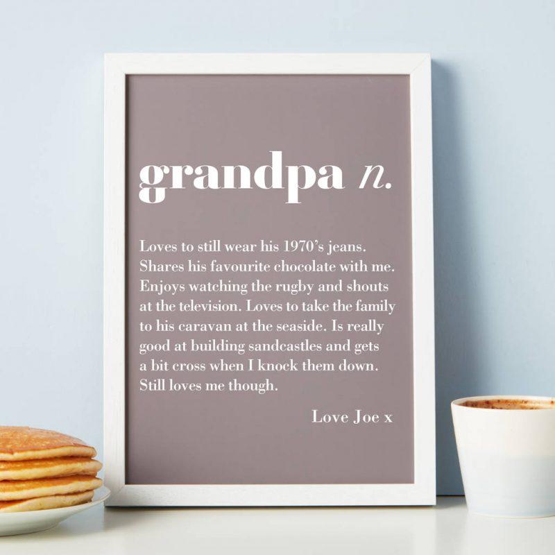Gift ideas for Grandpa personal print