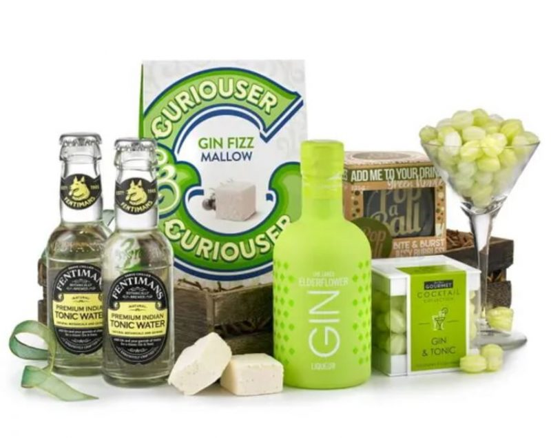 Gin and tonic themed gift hamper
