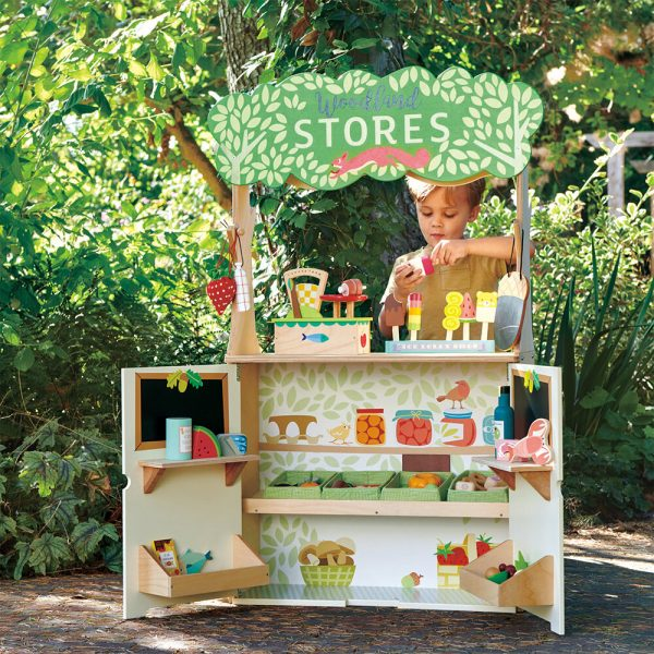 Creative gift ideas for children wooden shop and theatre