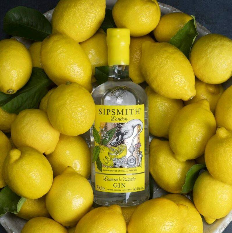 Lemon flavour Sipsmith gin bottle