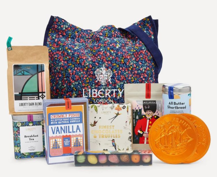 Liberty hamper with tote