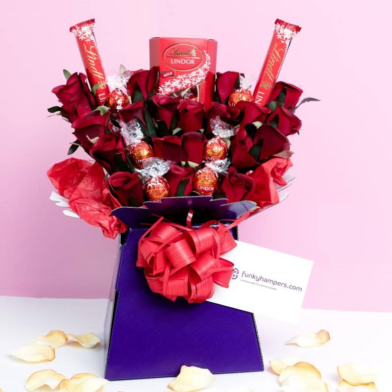 Lindor chocolate bouquet hamper
