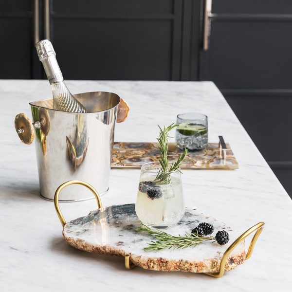 Gift ideas for couples who have everything - natural agate wine cooler