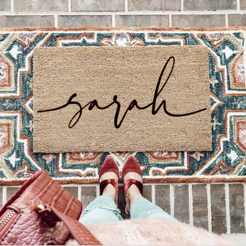 Personalised Script Font Doormat