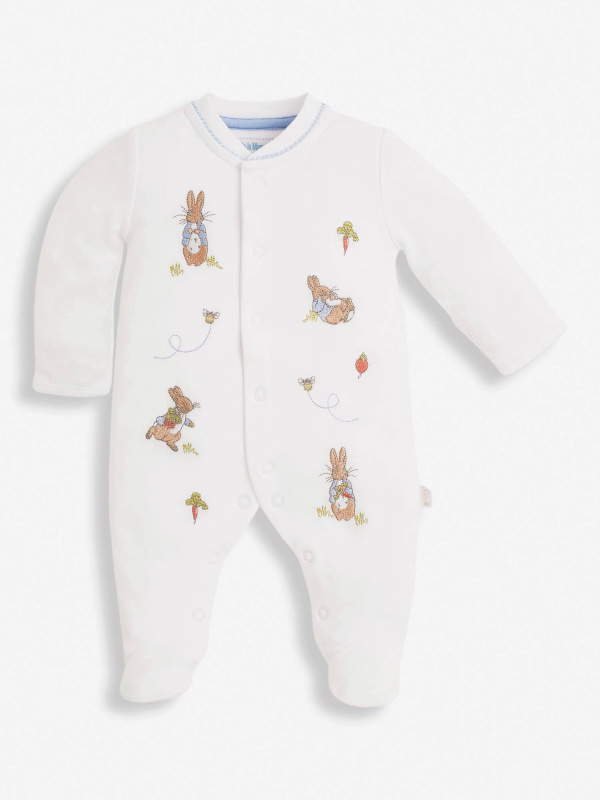 peter rabbit baby sleepsuit
