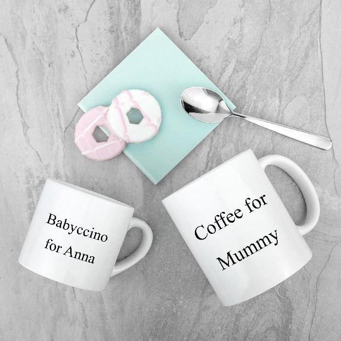 Set of two coffee mugs gift set