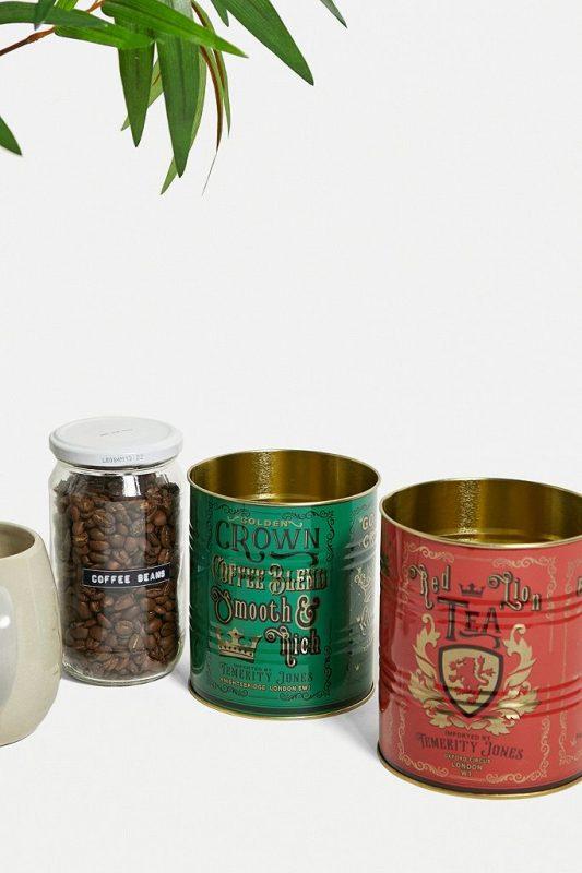 Tea and coffee tin set