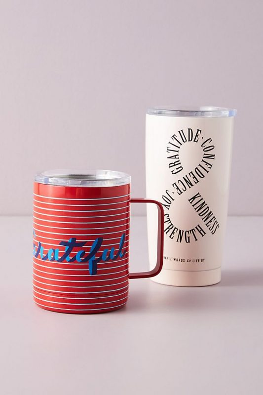 Travel mug coffee themed gift