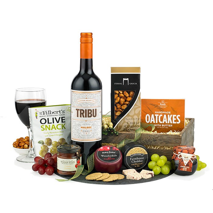 Wine and cheese crate gift hampers to suit everyone