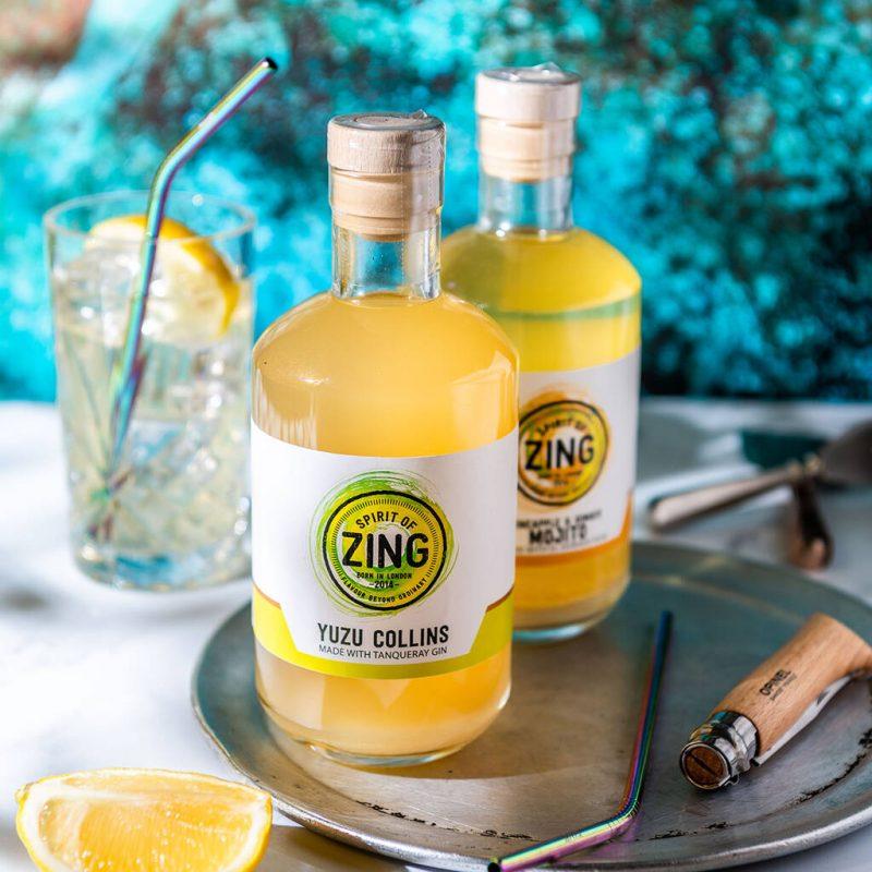 Gin Collins Cocktail Yuzu flavour
