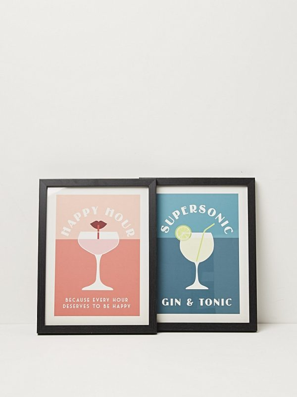 Supersonic gin & tonic framed print