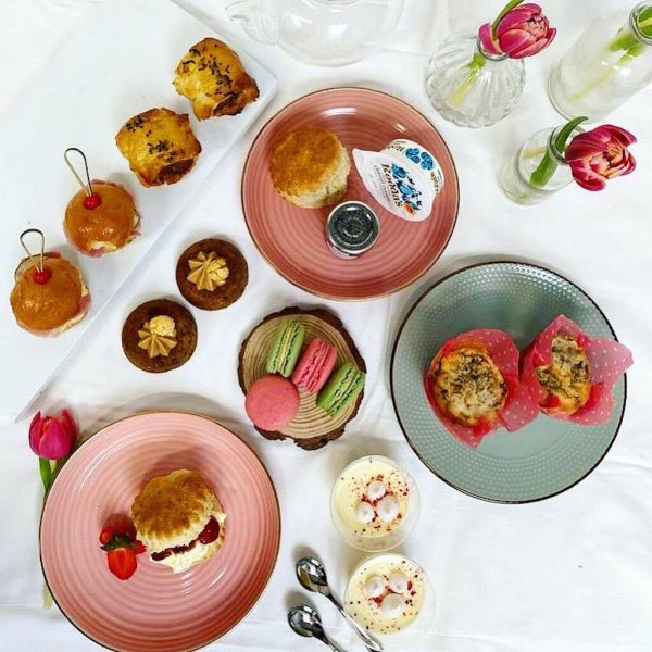 Afternoon tea at home gift experience for older parents