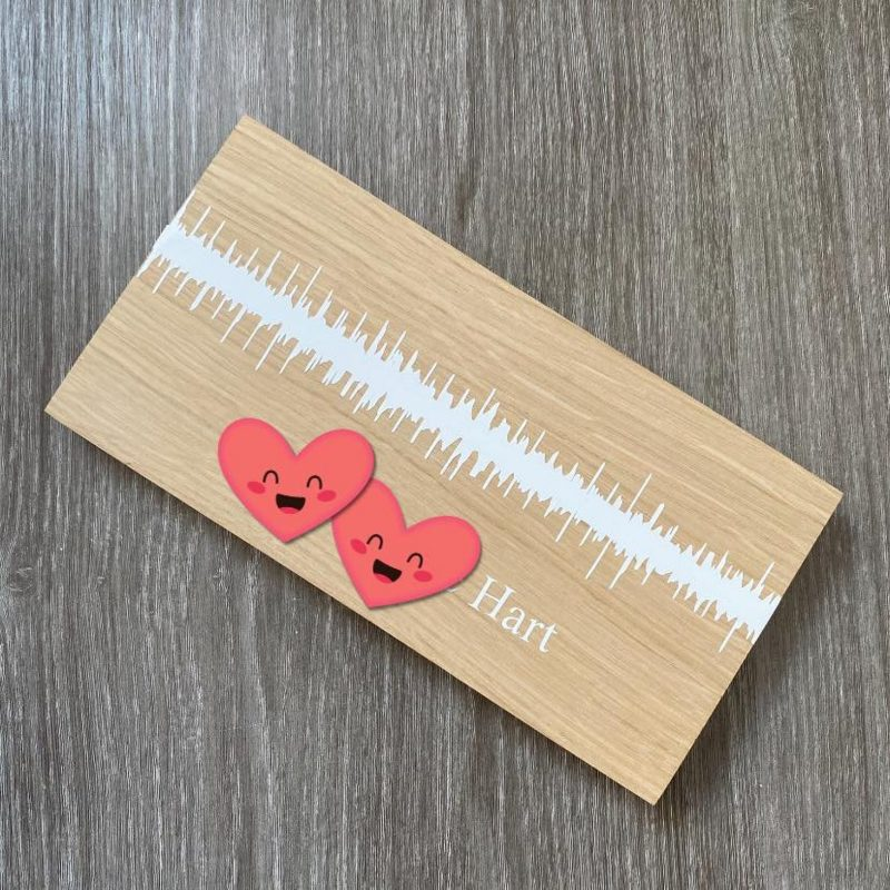 Baby heartbeat wooden plaque