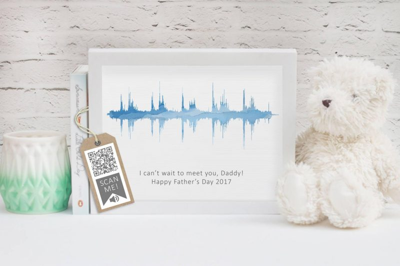 Baby heartbeat gift ideas with QR code