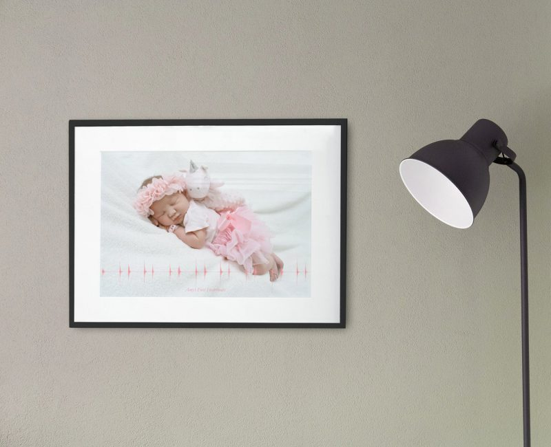 Baby heartbeat print with photo