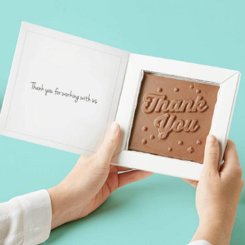 Branded chocolate Christmas card