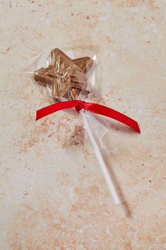 Chocolate gift ideas chocolate star lollipop