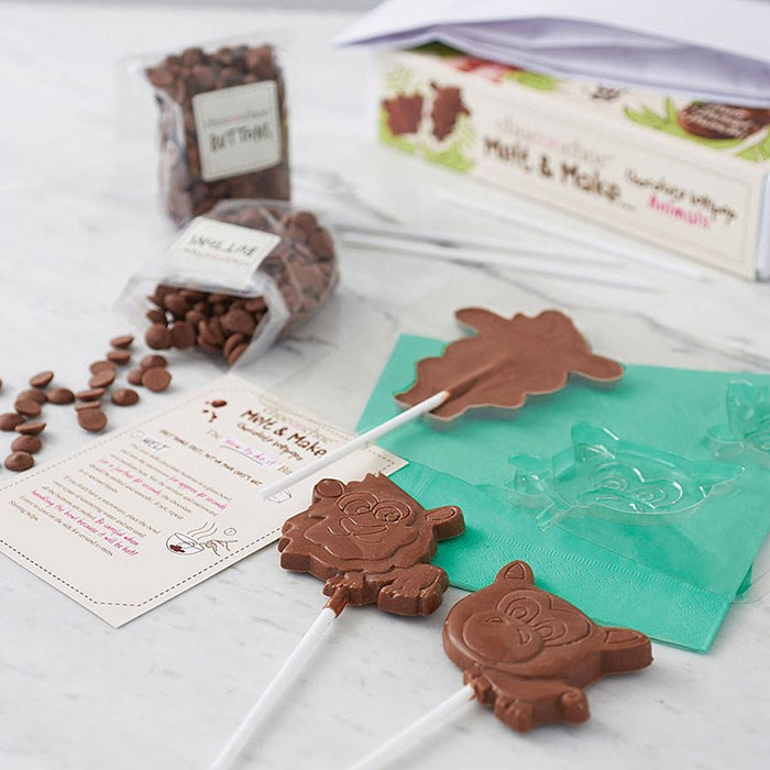 Melt and make chocolate lollies chocolate gift ideas for children