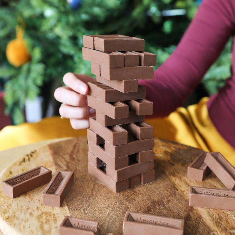 Chocolate stacking game