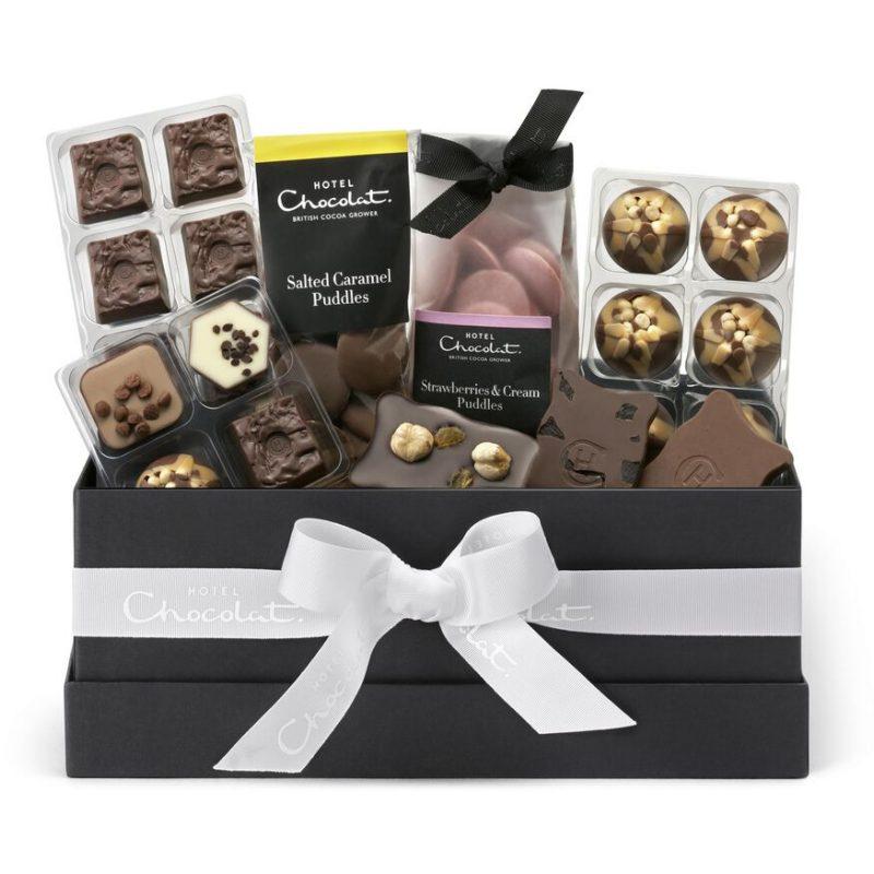 Chocolate gift hamper from Hotel Chocolat