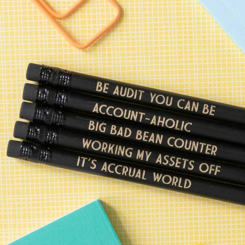 Funny pencils gift for accountants