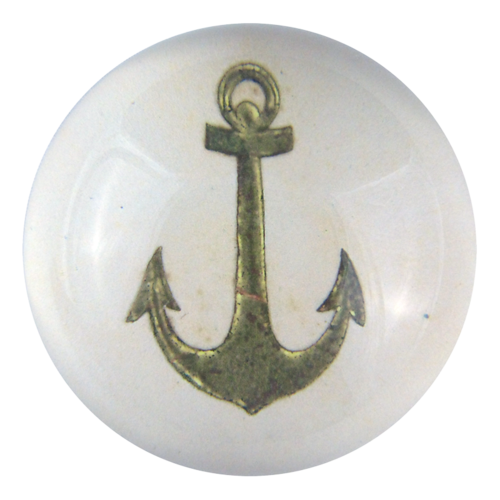 Glass dome paperweight with anchor