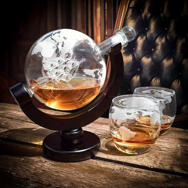 Globe whisky decanter