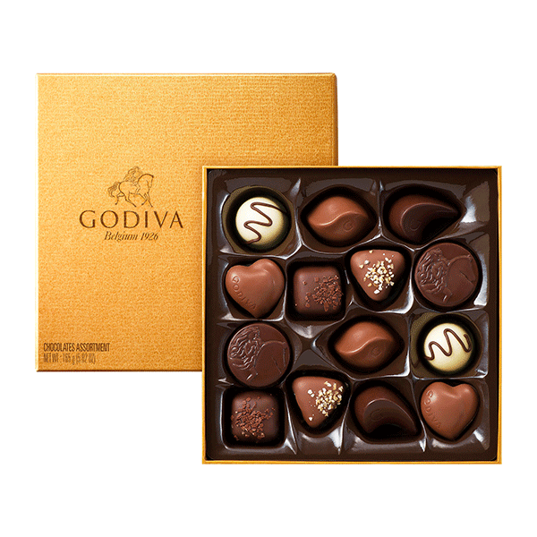 Godiva Gold chocolate gift box