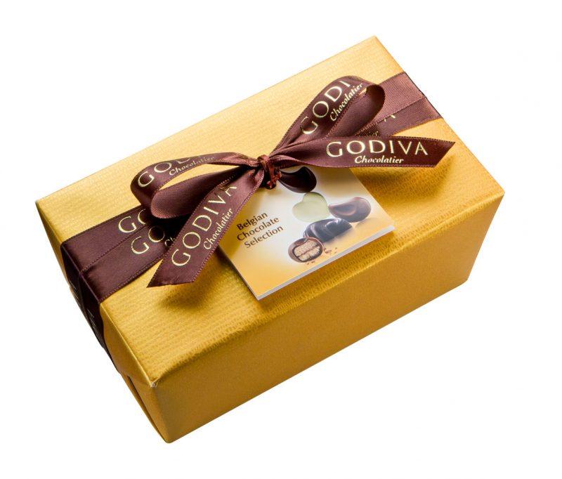 Gold wrapped ballotin from Godiva