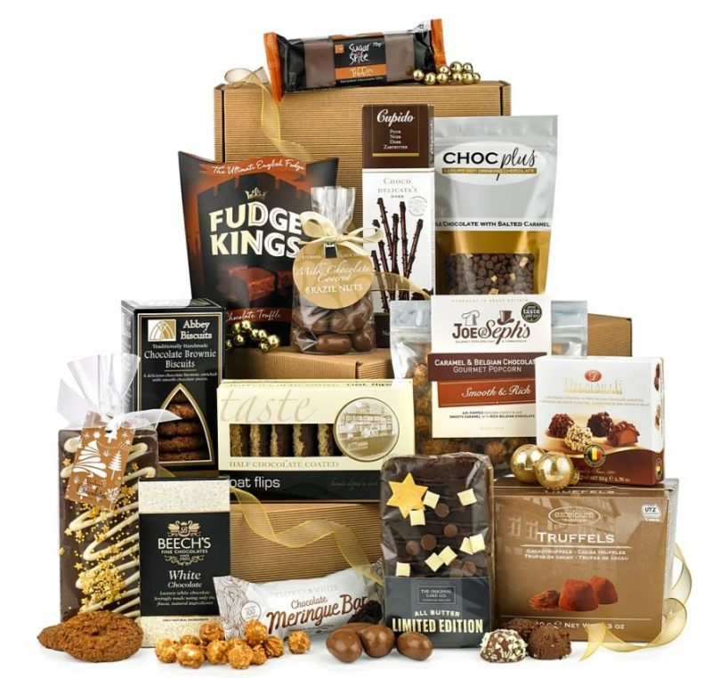 Large hamper of chocolate treats