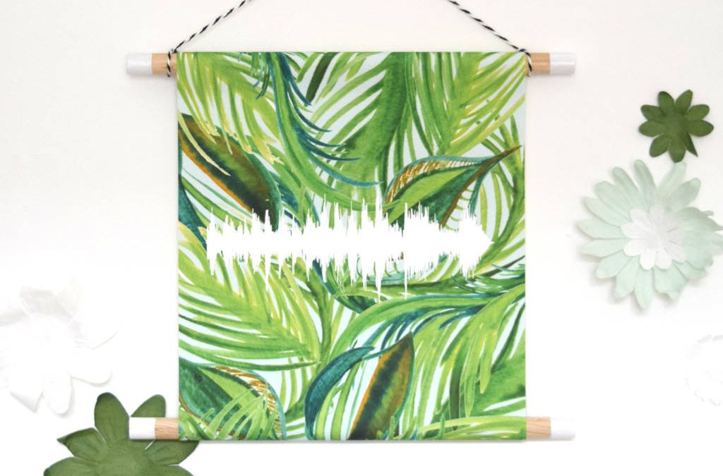 watercolour baby heartbeat wall hanging