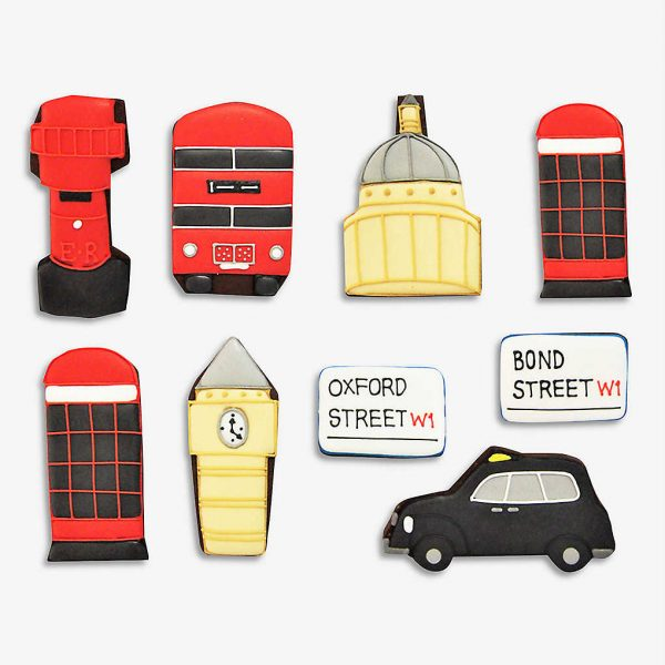 London gift ideas for couples - London themed biscuits