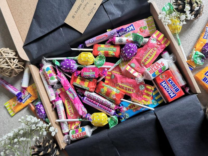 Personalised sweet boxes from Etsy